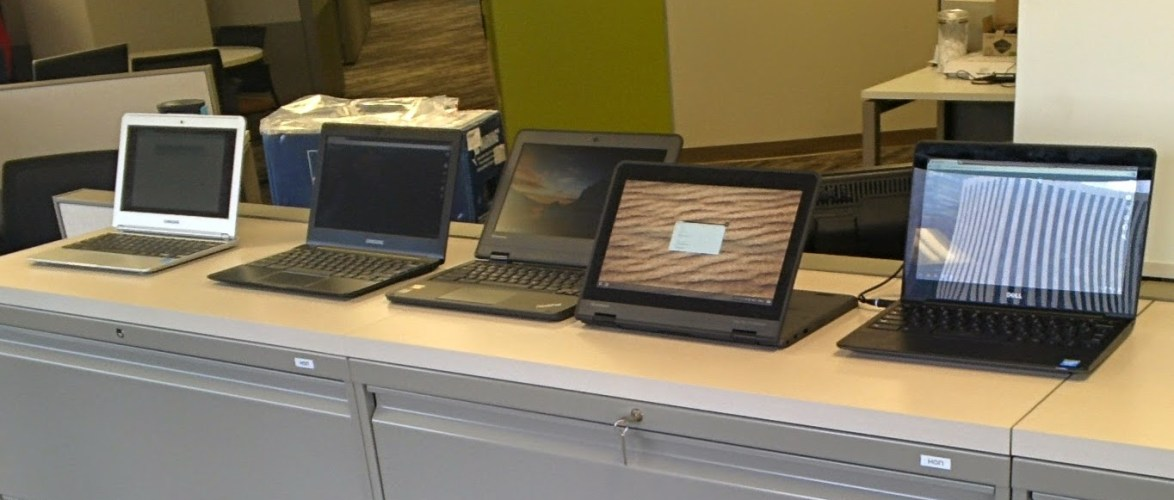 Five Different Chromebooks that we are considering in  #dpsk12   for next year. See if you can name them all.