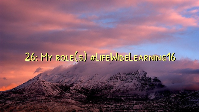 26: My role(s) #LifeWideLearning16