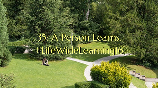 35: A Person Learns. #LifeWideLearning16
