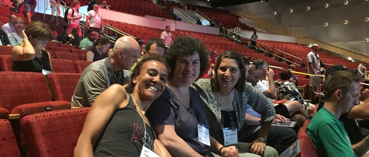 Great to see some #dpsk12 peeps at the #ISTE2016 ignite sessions. Post a picture if you are in here too!