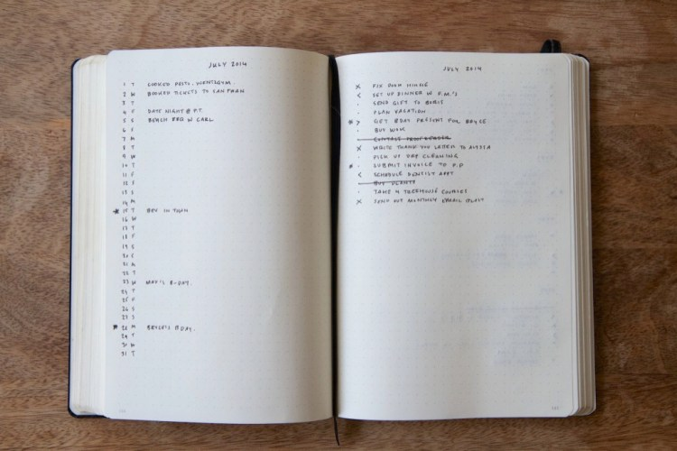 My Try At Bullet Journals