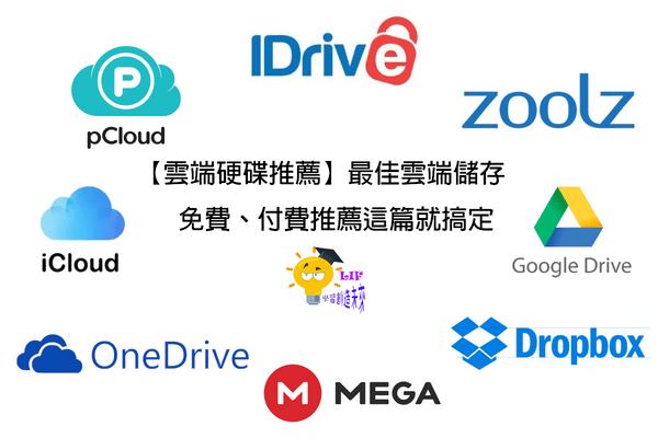 【雲端硬碟推薦】2019最佳雲端儲存,免費、付費推薦這篇就搞定