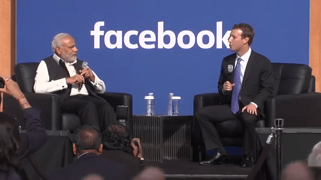 Facebook townhall with Modi & Mark superb discussion about digital India
