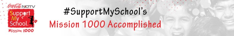 SupportMySchool - Mission 1000 accomplished