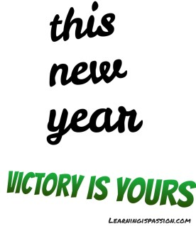 This New Year resolutions victory is yours