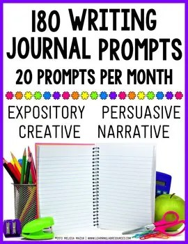 Keep students engaged with their writing journals!  These expository, persuasive, creative, and narrative prompts will make them want to keep writing!
