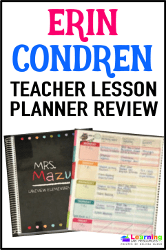 Erin Condren makes the BEST teacher lesson planners!  Read about the ONLY pens I will use with it.