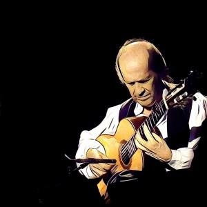 Paco de Lucía tocando la guitarra