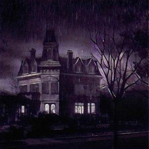 escape room mansión tenebrosa con lluvia