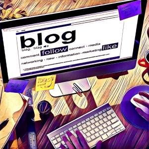 ordenador mostrando blog