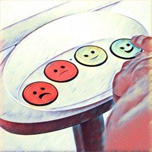 botones para medir la satisfaccion de los clientes