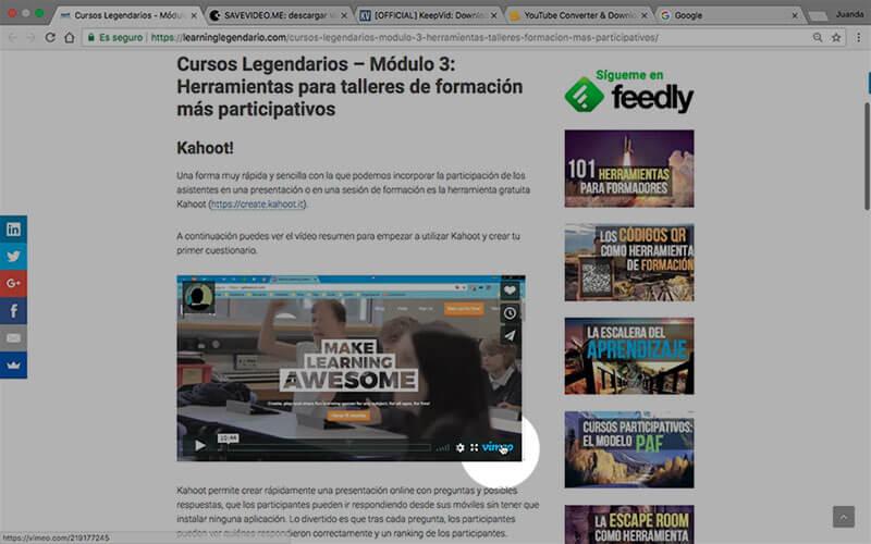 averiguar dirección original (URL) del vídeo de Vimeo