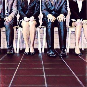 voluntarios sentados