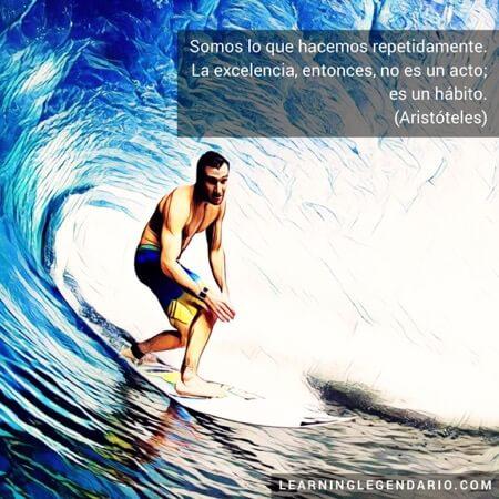Somos lo que hacemos repetidamente. La excelencia, entonces, no es un acto, es un hábito. Aristóteles.