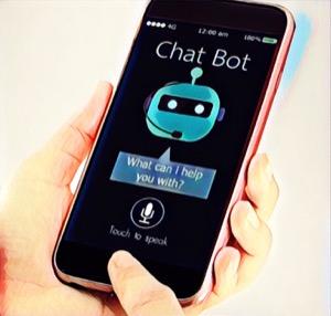 chatbot en el teléfono móvil