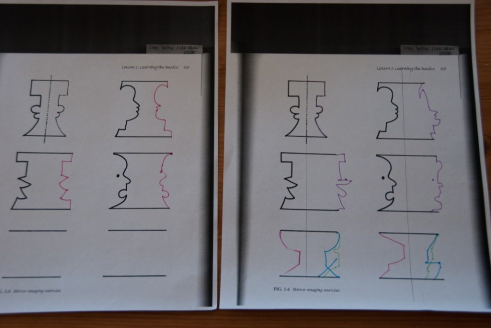 Mirror Imaging Exercise from Drawing with Children