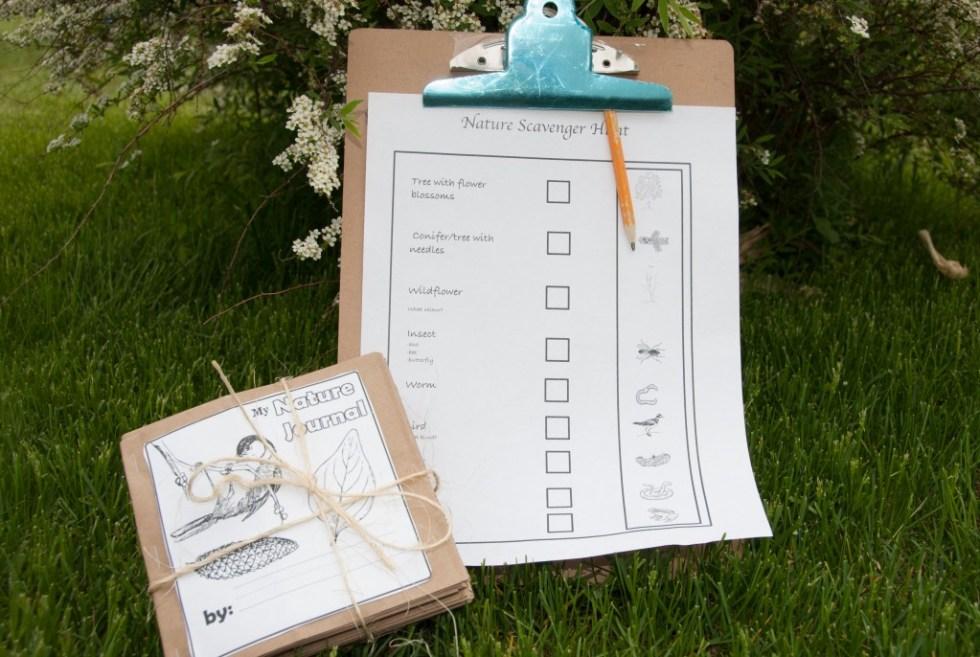 Nature Scavenger Hunt & Paper Bag Nature Journal
