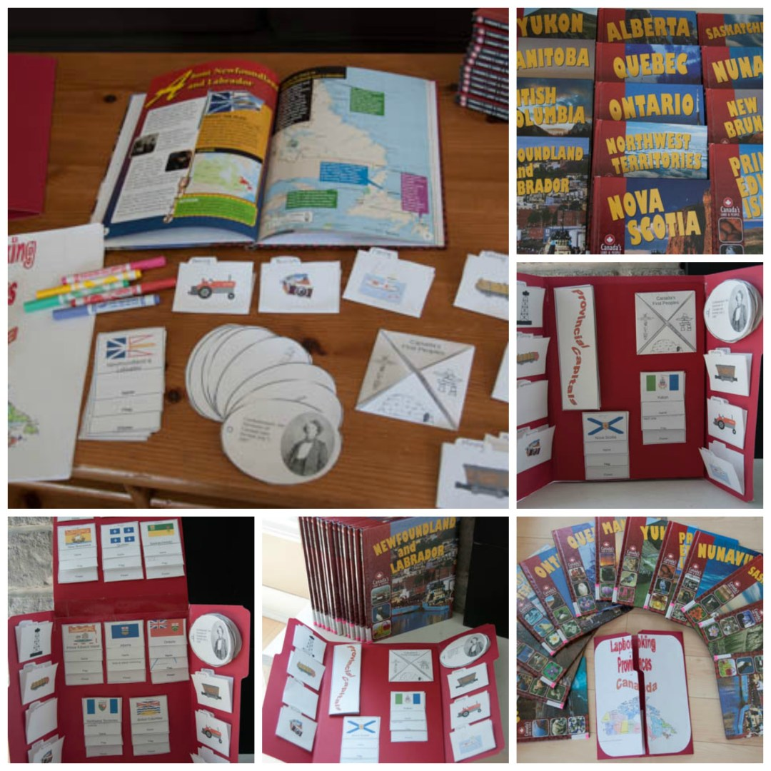 Lapbooking the Provinces of Canada | FREE printable | www.learningmama.com
