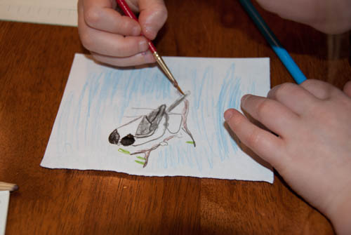 Nature Study: nature journalling with watercolour pencils | Learning Mama