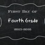 First Day of School Chalkboard Printable