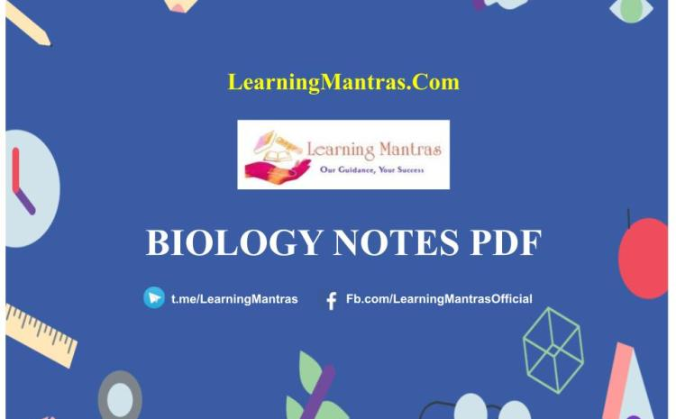 Biology Notes PDF & Questions Free Download – Shortcut Tricks (Topic-Wise)