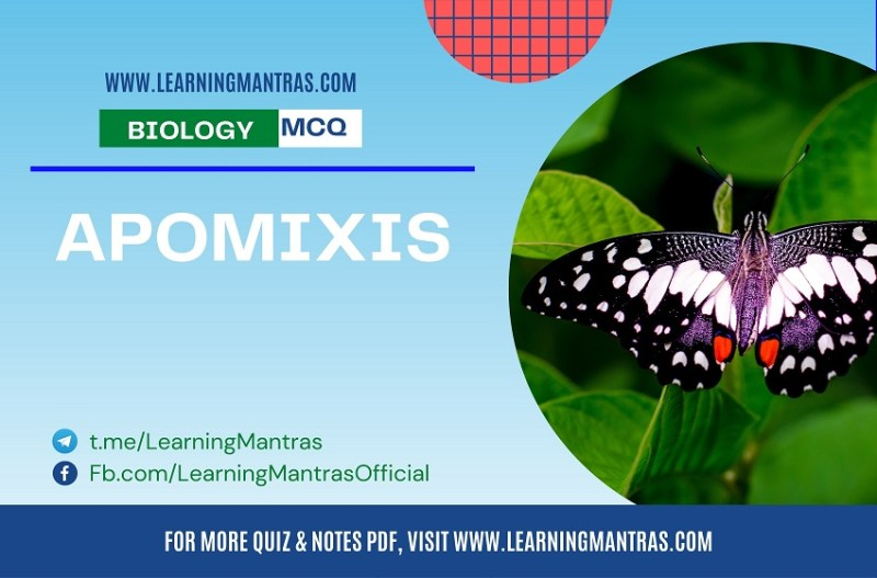 MCQ on Apomixis
