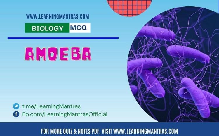 Biology MCQ on Amoeba for NEET and Medical Exam 2021