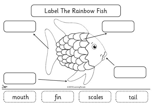 The Rainbow Fish Story Unit and Free Printable