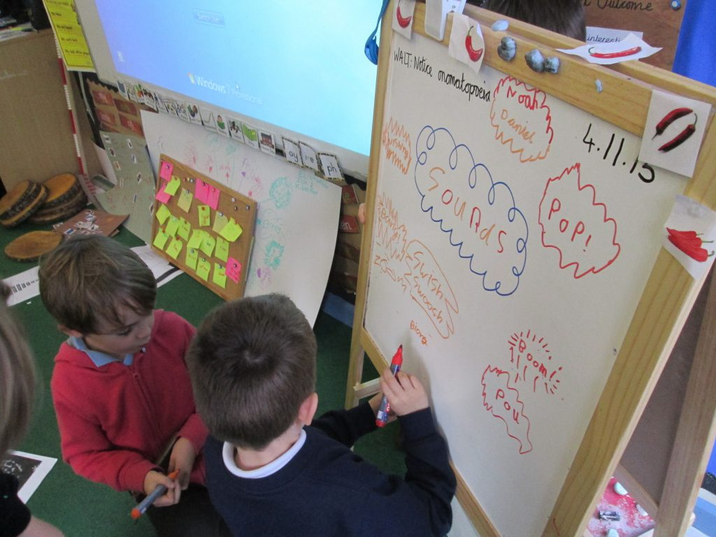 Children taking ownership over how they present their learning