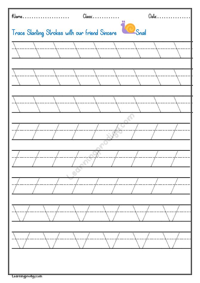 Free Printable Pattern Tracing Worksheet   LearningProdigy ...