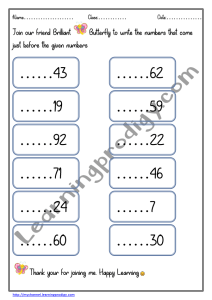 Before Number Math Worksheet For Kindergarten Kids Learningprodigy Maths Maths Before And After Numbers Maths K - 45+ Printable Easy Math Worksheets For Kindergarten Background