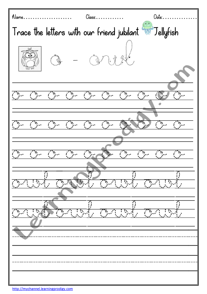 Lowercase Dotted Lines English Alphabets Cursive Writing Practice  Worksheet With Pictures LearningProdigy English, English Cursive Writing,  English-G1 |