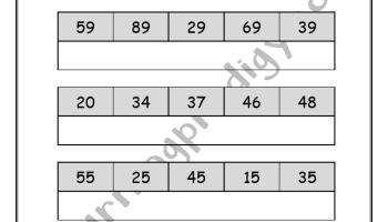 Arrange the Numbers in Descending Order|Math Worksheet for Kindergarten | LearningProdigy | Maths, Maths Descending Order, Maths-G1, Subjects |