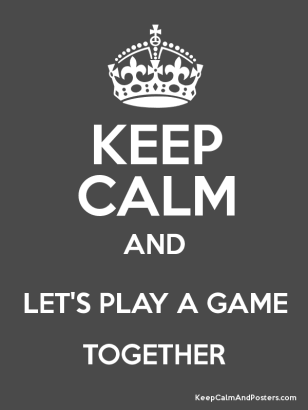 keep calm and play_BW