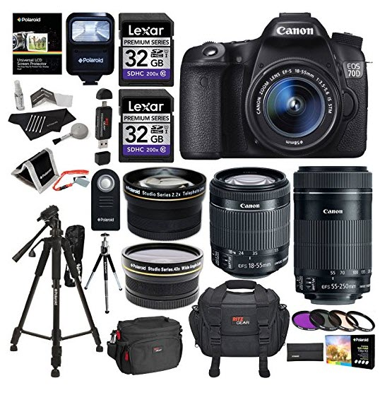 Canon EOS 70D 202 MP AF Full HD 1080p DSLR Camera Bundle Learning