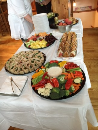 Tasty lunch spread!