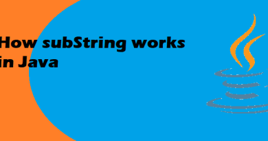 How SubString works in java