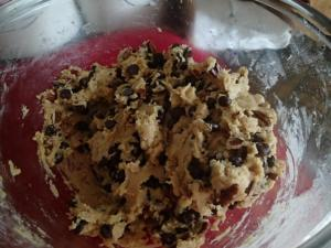 Family Favorite Pecan Chocolate Chip Cookie-Dough