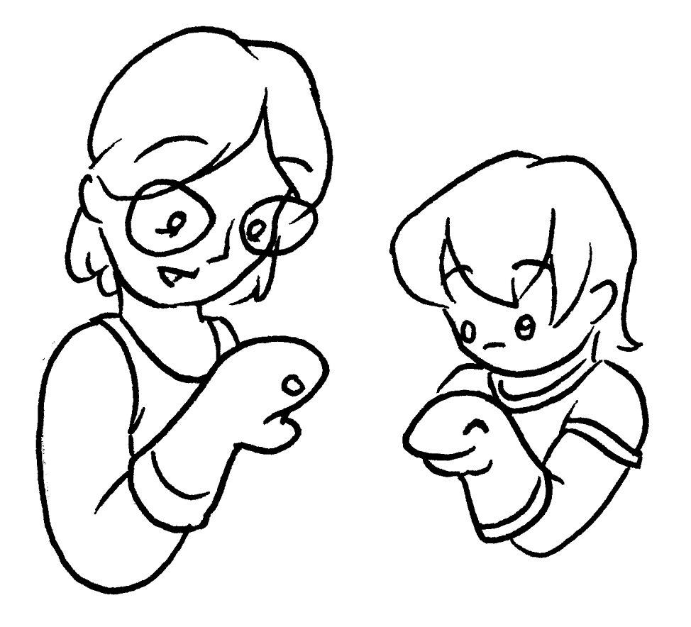 Finger Puppet Pages Coloring Pages