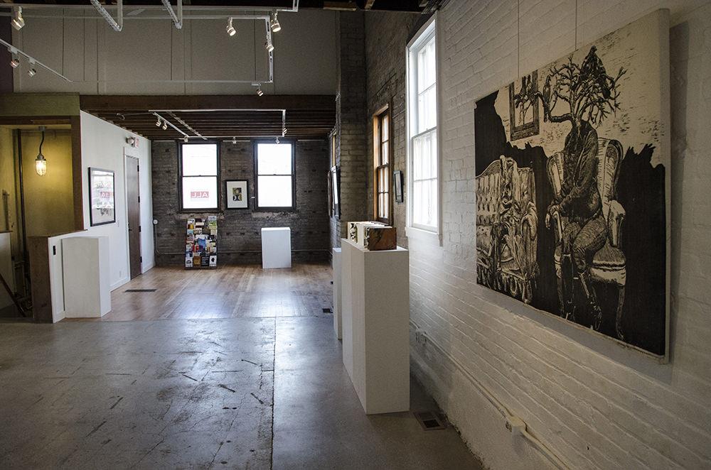 Jenie Gao's artwork at Arts + Literatury Laboratory, Madison, WI.