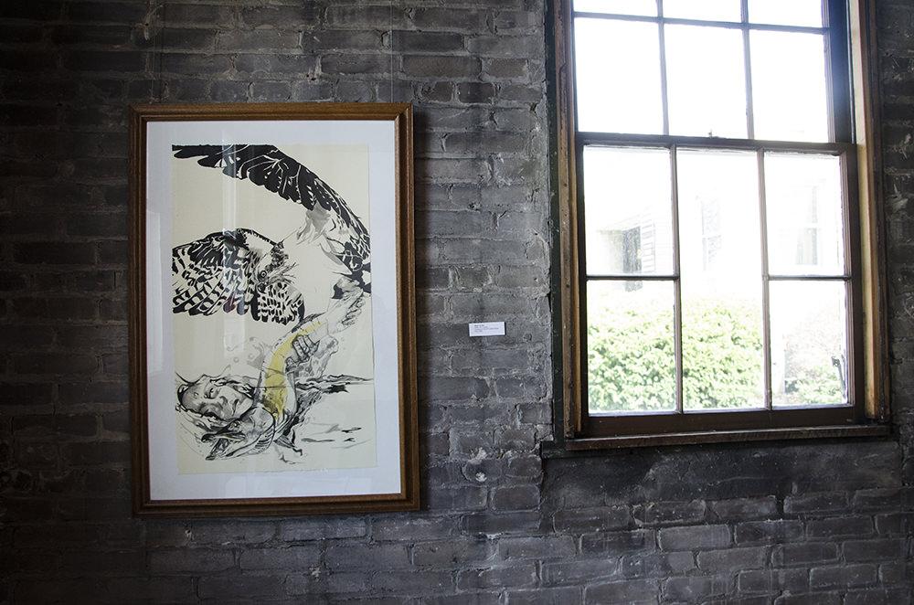 """Beast of Prey,"" by Jenie Gao, on view at Arts + Literatury Laboratory, Madison, WI."