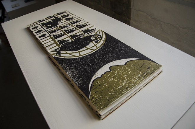"""The Golden Cage,"" artist's book by Jenie Gao"