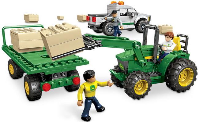 John Deere Mega Bloks Harvest Crew Farm Playset Combine