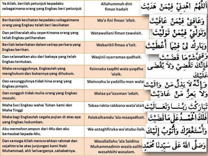 Doa Islami Bacaan Doa Qunut Dan Cara Doa Qunut Nazilah