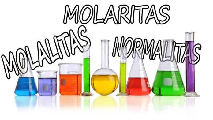 ✔ Pengertian Molalitas, Molaritas, dan Normalitas (Lengkap)