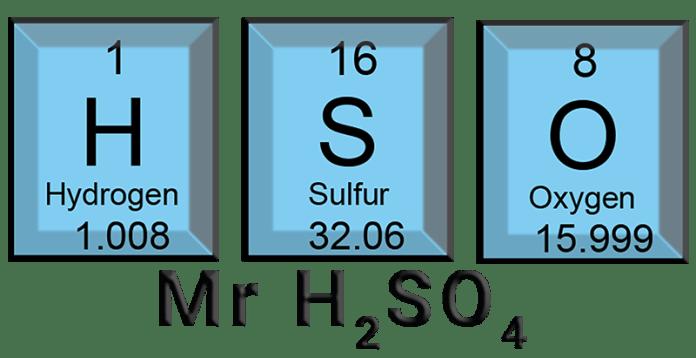 Jawaban Berapa Mr H2SO4 dan Cara Menghitung Mr H2SO4