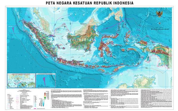peta Indonesia ukuran besar resmi negara