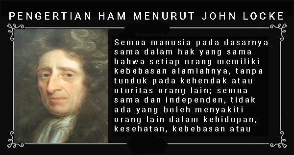 pengertian HAM menurut John Locke