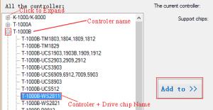 LEDEdit controller selection window
