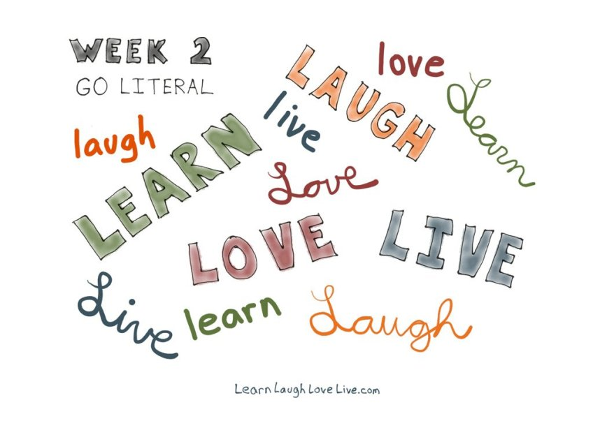 Path Go literal LRN LAF LUV LIV LYF Learn Laugh Love Live Life